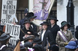 Sufragistas manifestación